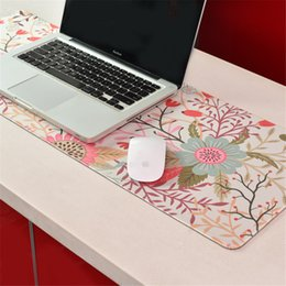 Discount coloured laptops - New Creative Desk Mouse Pad Desk Soft Comfort Leather Mouse Pad Large Multiple Colour PC Laptop Game For Mouse