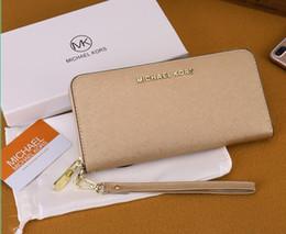 $enCountryForm.capitalKeyWord Canada - Wholesale multi-color ladies long mobile phone bag wallet wrist classic zipper hand purse free post