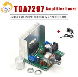 Amplifiers module online shopping - TDA7297 X15W Amplifier board Stereo Digital Audio Amplifier Amplificador Module Board Channel Amplifier With Power Adapter