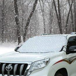 Auto Windschutzscheibe Schnee Eis Abdeckung Frostschutz Wischer Visier Beschützer Winddicht Auto Sonnenschutz für Auto Minivan und SUV mit Magnetic