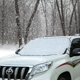Pare-brise de neige Couverture de glace Garde de givre Wiper Visor Protector Coupe-vent Auto Sun Shade pour voiture Monospace et SUV avec magnétique