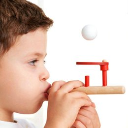 blow ball toy NZ - ht Wholesale- New Foam Floating Blow Ball Game Classic Children's Early Educational Fun Toy
