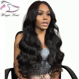 customized human hair wigs NZ - Brazilian Human Hair Wigs Non -Remy Lace Front Wigs With Baby Hair Pre -Plucked Hairline Body Wave 230 %Density Customized Accepted