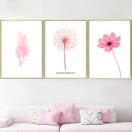 $enCountryForm.capitalKeyWord Australia - Prints Pictures Home Wall Art Modular Poster Nordic Personalized Plant Flowers And Dandelions Painting Canvas Living Room Decor