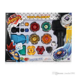 beyblade master set UK - Beyblade Metal Spinning Beyblade Sets Fusion 4D 4 Gyro Box Fight Master Beyblade String Launcher Grip For Sale Kids Toys Gifts