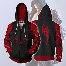 Wholesale iron men costumes resale online - Iron Fist Hoodie Sweatshirts Long Sleeve Zipper Men Hoodie Cosplay Sweatshirt Jacket