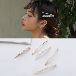 35 Hair UK - Wedding Party beaded pearl gift woman lady diamond jewelry Hair Clips Barrettes hairpin for bride acting initiation graduation QM-35