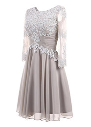 $enCountryForm.capitalKeyWord UK - Sparkly Jewel A Line Short Evening Dresses Lace Applique Long Sleeves Evening Dress Pageant Celebrity Gowns Custom Made Evening Gowns