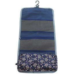 drawstring cosmetic bag Australia - New Style Fashion Casual Practical Travel Hanging Cosmetic Bag Toiletry Organizer Ladies Women Make Up Pouch Dark Blue