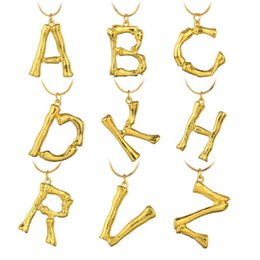 Necklaces Pendants Australia - Gold Plated English Letters Necklaces Hyperbole Uppercase English Alphabet Alloy Pendants 17 Inches Chain Fashion Jewelry