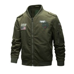 $enCountryForm.capitalKeyWord NZ - High quality Thick and thin Army Green Jacket Men's New Style Fashion Uniform Baseball Jacket Fashion Tooling Coat