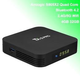 $enCountryForm.capitalKeyWord Australia - Android TV Box Amlogic S905X2 Quad Core Bluetooth Smart Android8.1 TVbox with Wifi Antenna Display 4GB 32GB 4K Media Player TX5 Pro