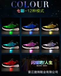 Discount rubber shoes for girl size 25 - UncleJerry Size 25-47 New Summer Led Fiber Optic Shoes for girls boys men women USB Recharge glowing Sneakers Man light
