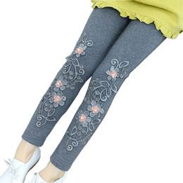 $enCountryForm.capitalKeyWord NZ - Baby Toddler Teen Girls Leggings Kids Pencil Pants Cotton Legging Flower Lace Girl Leggins Children's Long Trousers Jw4092e
