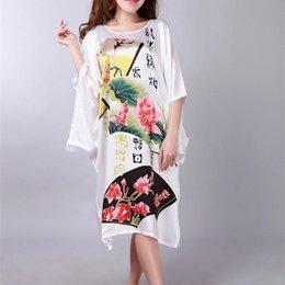 8eef908749 Traditional Chinese Sleepwear Australia - Wholesale- Novelty White Ladies  Robe Spring Chinese Women Rayon Sleepwear