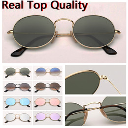 Wholesale sunglasses oval designer sunglasses oval round metal real top quality brand sunglasses for women man with leather case, cloth, everything!!