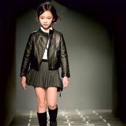$enCountryForm.capitalKeyWord Australia - Girls Pu Zipper Jackets Cool Jacket For Girl 3-12 Years Kids Classic Collar Coats Teen Windbreaker Clothing Children's Outerwear