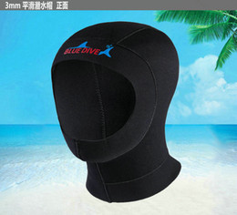 Discount wetsuit swimming man - 3mm Neoprene Scuba Diving Cap With Shoulder Snorkeling Equipment Hat Hood Neck Cover Winter Swim Cap Warm Wetsuit Protec