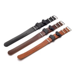 nato leather strap NZ - Adapters16mm 1 Pair Conversion RAF NATO leather Watch Band Strap Kit for G MIL- 5600 GWM5610 DW6600 GW6900 2310 G100