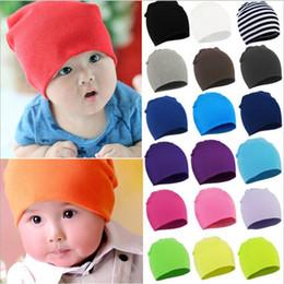 Fashion Photography Prints Australia - baby Candy Color hat Children Unisex Sweet Fashion Head Wraps Striped Beanie Headwear Photography Props hat KKA6689