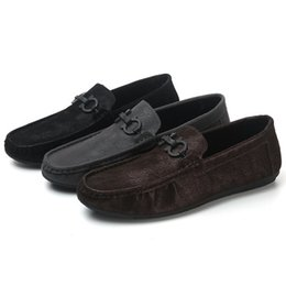 Relax shoes online shopping - Hot Sale A pair of breathable leather loafers for men casual shoes with hollow loafers can make you relax