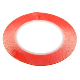 China 1pc Red Film Double Sided Sticky Adhesive Tape 25M Transparent High temperature Resistance Tapes For Cell Phone Repair suppliers