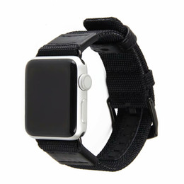 Watches Nylon Australia - Nylon Strap for Apple Watch 38mm & 42mm Series Heat Dissipation Breathable High Quality Genuine Leather Watch Bands Strap Casual Style