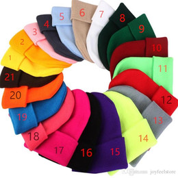 Wholesale 2018 Winter Hats New Beanies Knitted Solid Cute Hat Girls Boys Autumn Female Beanie Caps Warmer Bonnet Ladies Casual Cap