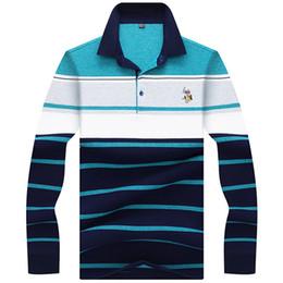$enCountryForm.capitalKeyWord Australia - Jungle Zone Brand Men's Clothing 2019 New High Quality Embroidery Men Long Sleeve Polo Shirt Striped Polos 8863 C19041501