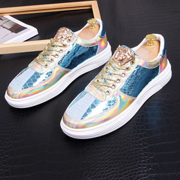 ShoeS for driving online shopping - Mixed color shining Men brand designer shoes Luxury designer Causal Flats wedding party shoes loafers Driving shoes For Man