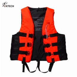 Jacket Water Australia - Polyester Adult Swimming Boating Drifting Life Vest With Whistle S-xxxl Sizes Water Sports Safety Man Jacket C19041201
