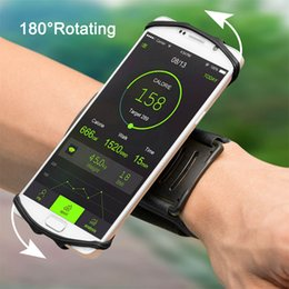 $enCountryForm.capitalKeyWord NZ - 180 Degree Rotatable Running Wristband Phone Case Arm Band Sport Cycling Gym Wristlet Belt Armband Bag for 4-5.5 inch for iphone samsung
