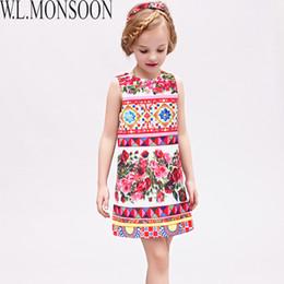 870336171b64a Red Rose Dresses For Kids Australia - W.L.MONSOON Vestido Princesa Girls  Dress Summer 2019 Brand