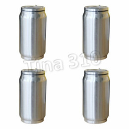 can drink lid Australia - fashion Vacuum Bottle Water Can Coke Shape with straw lid Coke Cup Reusable Stainless Steel 350ml 500ml Coke Drinking cupT2I5651