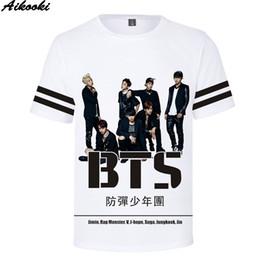 27a2011b7b Hot Sale 3D Korea BTS Print T-Shirt Boys Girls Harajuku Short Sleeve BTS  Fashion Cool Hip Hop O-Neck T-Shirt