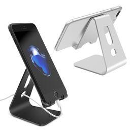 aluminium holder phone 2019 - Mobile Phone Holder Stand Aluminium Alloy Metal Tablet Stand Universal Holder for iPhone X 8 7 6 5 Plus Samsung Phone ip