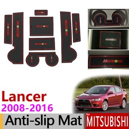 $enCountryForm.capitalKeyWord Australia - Anti-Slip Gate Slot Mat Rubber Cup Coaster for Mitsubishi Lancer 2008 - 2016 Ralliart EVO X Galant Fortis EX Accessories Sticker