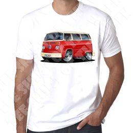 $enCountryForm.capitalKeyWord Australia - WickedArtz Cartoon Red T2 Bay Campervan Mens 100% Cotton White T-shirt New Fashion Casual Cotton Short-Sleeve Funny Top Tee Print