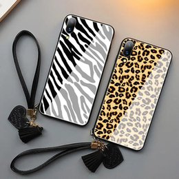 Zebra Phone Case Iphone Australia - For iphone X popular logo zebra leopard toughened glass new mobile phone shell huawei mate20 mobile phone shell cases