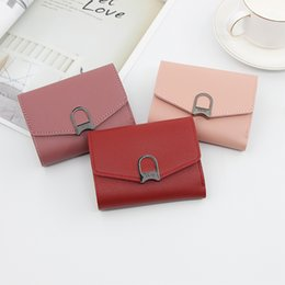 $enCountryForm.capitalKeyWord Australia - free shipping Hot-selling 2019 Ladies'Short Purse Lady Wallet Card bag PU Material Small Wallet