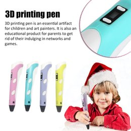 plastic filament UK - 3D Printing Pen 12V 3D Pen Pencil 3D Drawing Pen Stift PLA Filament For Kid Child Education Hobbies Drawing Toys Birthday Gifts