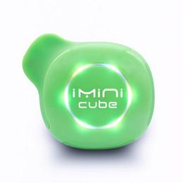 Black cuBe Box online shopping - Authentic Imini Cube Starter Kit mAhh Battery Voltage Adjustable Vape Box Mod for ml Thread Ceramic Coil Cartridges Original