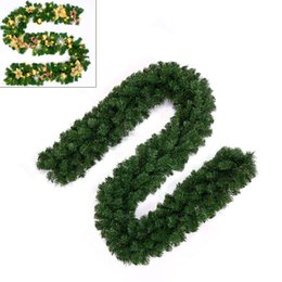 $enCountryForm.capitalKeyWord Australia - 2.7M PVC Christmas Ornaments Xmas Home Tree Garland Rattan Home Wall Pine Decor New 2018-2019 Party