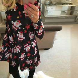 family black matching clothes 2019 - Year Festival Family Matching Dress Cute Christmas New Tree Snowman A Line Dress Claus Women Dress S 5Xl Designer Clothe