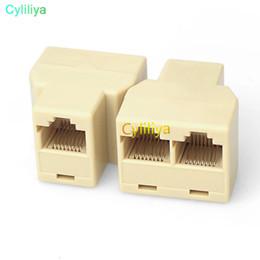 Lan Connectors Australia - RJ45 for CAT5 Ethernet Cable LAN Port 1 to 2 Socket Splitter Connector Adapter