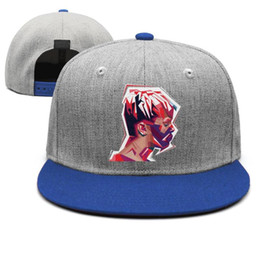 $enCountryForm.capitalKeyWord Australia - XXXTentacion Color block blue for men and women snap back,flat brimcap ball cool custom blank cute hats