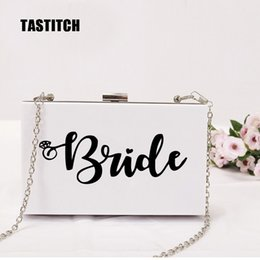 brides clutch bags NZ - 2020 New wallet women messenger bag Personalized letter Cute Bride customization fashion woman eveningbag party prom Clutch