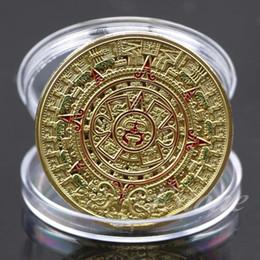 $enCountryForm.capitalKeyWord Australia - Coin Gold Silver Plated Mayan Aztec Prophecy Calendar Commemorative Coin Art Collection Gift