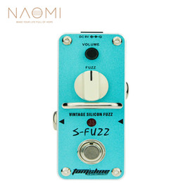 Discount vintage effects pedal - NAOMI Aroma Guitar Effect Pedal ASF-3 S-Fuzz Vintage Silicon Fuzz Electric Guitar Effect Pedal Mini Single For Electric