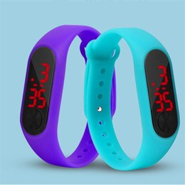 9092282218 Fashion Men Women Casual Sports Bracelet Watches LED Electronic Digital Candy  Color Silicone Wrist Watch for Children Kids